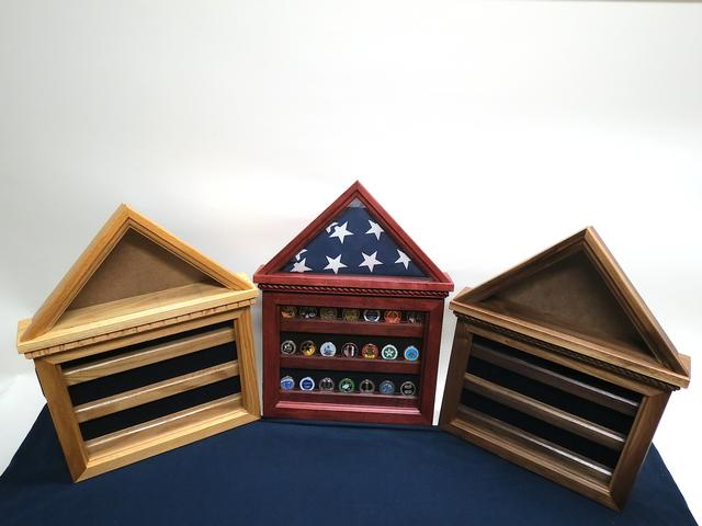 Flag Case / Coin Display Combo