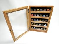 Coin Display w/ glass door (oak)