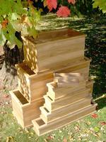 Teak Herb/Flower Box - 13x3x3